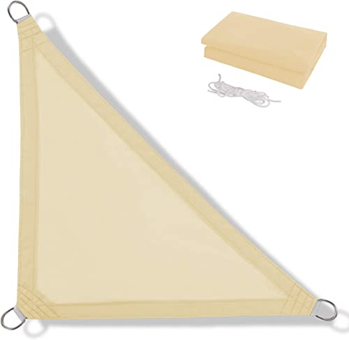 Anecoul Sun Shade Sail Waterproof Right Triangle 13' x 13' x 19' Shade Sails 95 UV Blocker Sunshade Patio Carport Awning