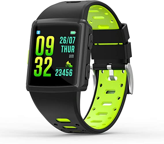 SMA-M3 GPS Sport Smart Watch for Man for Women Fitness Tracker Heart Rate Monitoring Watches as Gift (Green)