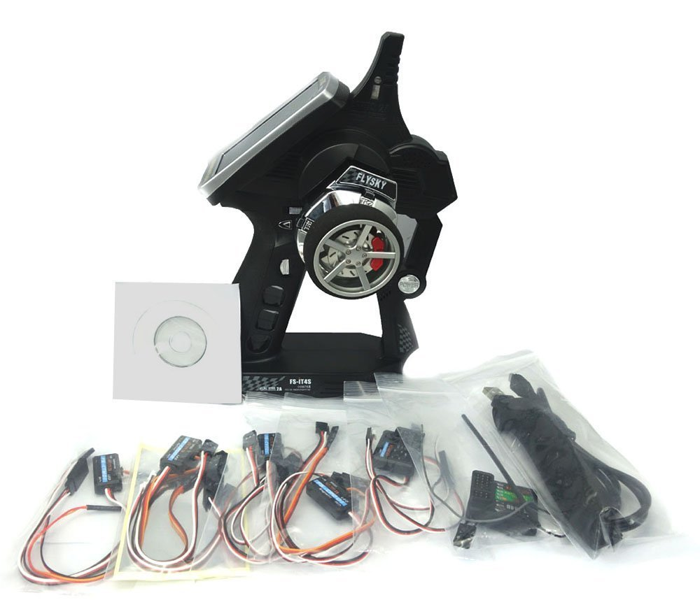 Flysky FS-IT4S 2.4GHz 4CH AFHDS 2 RC Boat Car Radio System Transmitter Touch