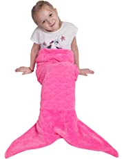 Mermaid Tail Blanket for Kids Teens Adults,Plush Soft Flannel Fleece All Seasons Sleeping Blanket Bag,Plain Fish Scale Design Snuggle Blanket,Best Gifts for Girls,Women