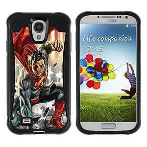 "Hypernova Defender Series TPU protection Cas Case Coque pour Samsung Galaxy S4 IV I9500 [Comics carácter del hombre Niños""]"