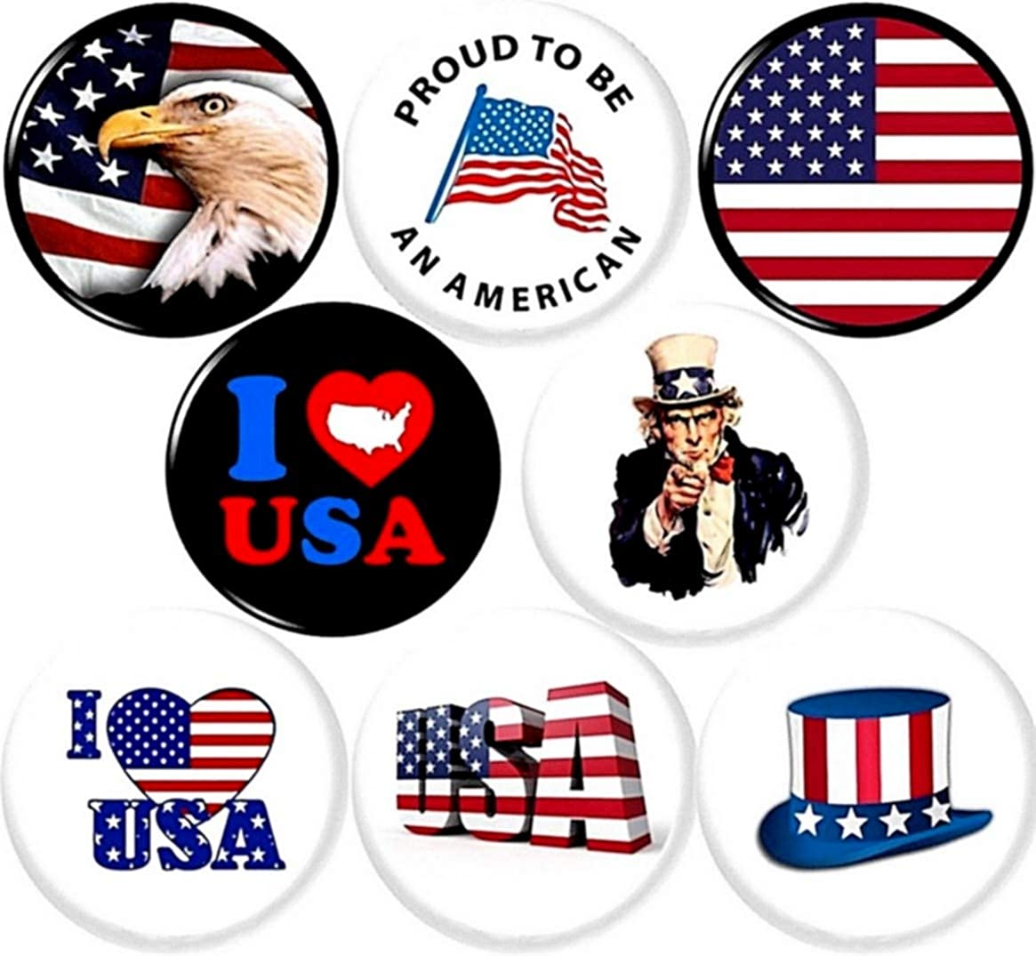 UNITED STATES OF AMERICA FLAG BADGE BUTTON PIN 1inch//25mm diameter USA