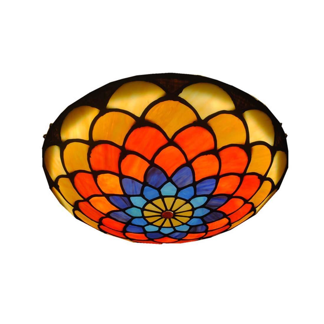 Mittelmeer Deckenleuchte Runde LED Gang Deckenleuchte Schlafzimmer Glas Lampenschirm Gang Deckenleuchte 220 V (V) (Größe   40)