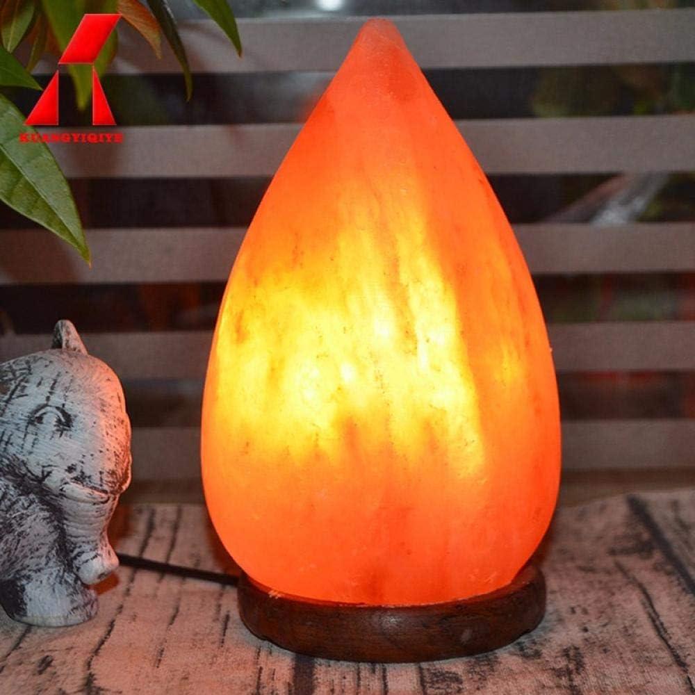La lámpara de sal 2-3 KG está hecha de sal de roca de cristal del Himalaya rosa natural auténtica 100% de calidad.@Forma de gota: Amazon.es: Iluminación