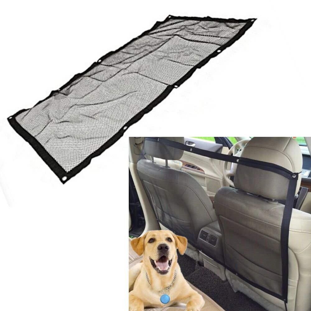 Haosen Universal Car Pet Dog Barrier - Easy Installation & Portable Dog Net Vehicle Pet Guard Mesh Black 115x62cm(45x24')