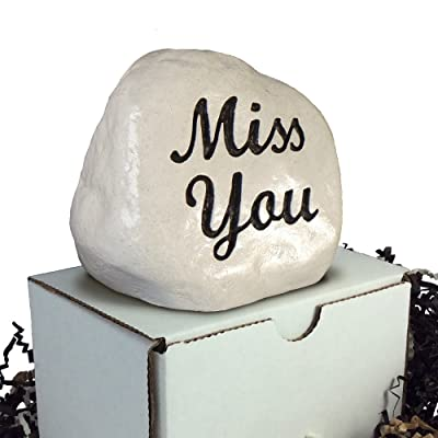 RocksOnly Miss You - Engraved Memorial Stone : Garden & Outdoor