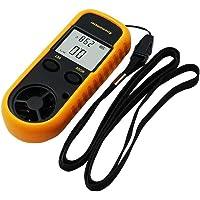 OUYAWEI - Anemómetro Digital con visualización LCD de 0 a 30 m/s, para medir la Temperatura del Viento, Herramienta práctica para Windsurf, Vela, Pesca, montañismo