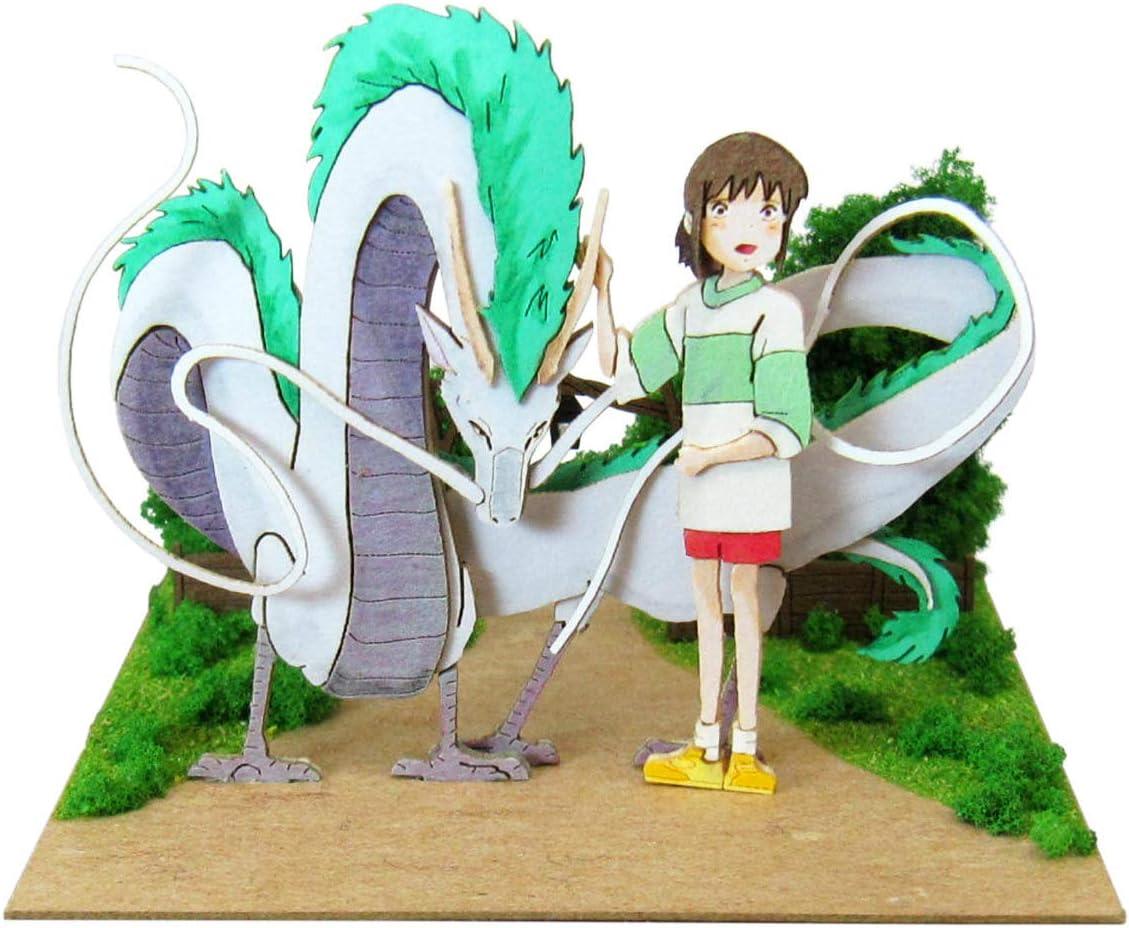 Amazon Com Sankei Studio Ghibli Spirited Away Haku Dragon And Chihiro Paper Craft Mp07 75 Toys Games