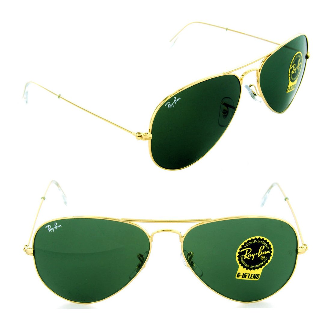 0187740551 Amazon.com  Ray-Ban RB3025 Classic Aviator Sunglasses Gold Crystal Green ( L0205) RB 3025 58mm…  Shoes