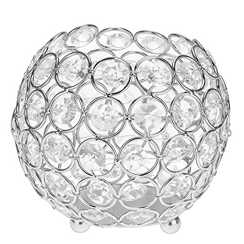 Youzpin Crystal Hollow Candle Holder, Candle Lantern Holders, Round Metal Candle Tealight Holder for Home Wedding Party Table Decoration, Coffee Table and Home Romantic Decor, Valentine's Day (Jewel Tea Bowls)