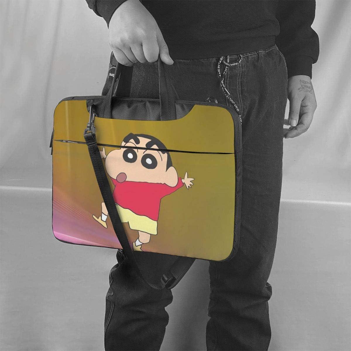 Crayon Shinchan Unisex Waterproof Computer Bag Laptop Case Messenger Bag Black 14 inch