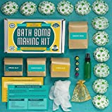 Diy Lush Bath Bombs Bath Bomb Making Kit with 100% Pure Therapeutic Grade Essential Oils, (Makes 12 DIY Lush Cupcake Mold Bath Bombs), Gift Box Included.