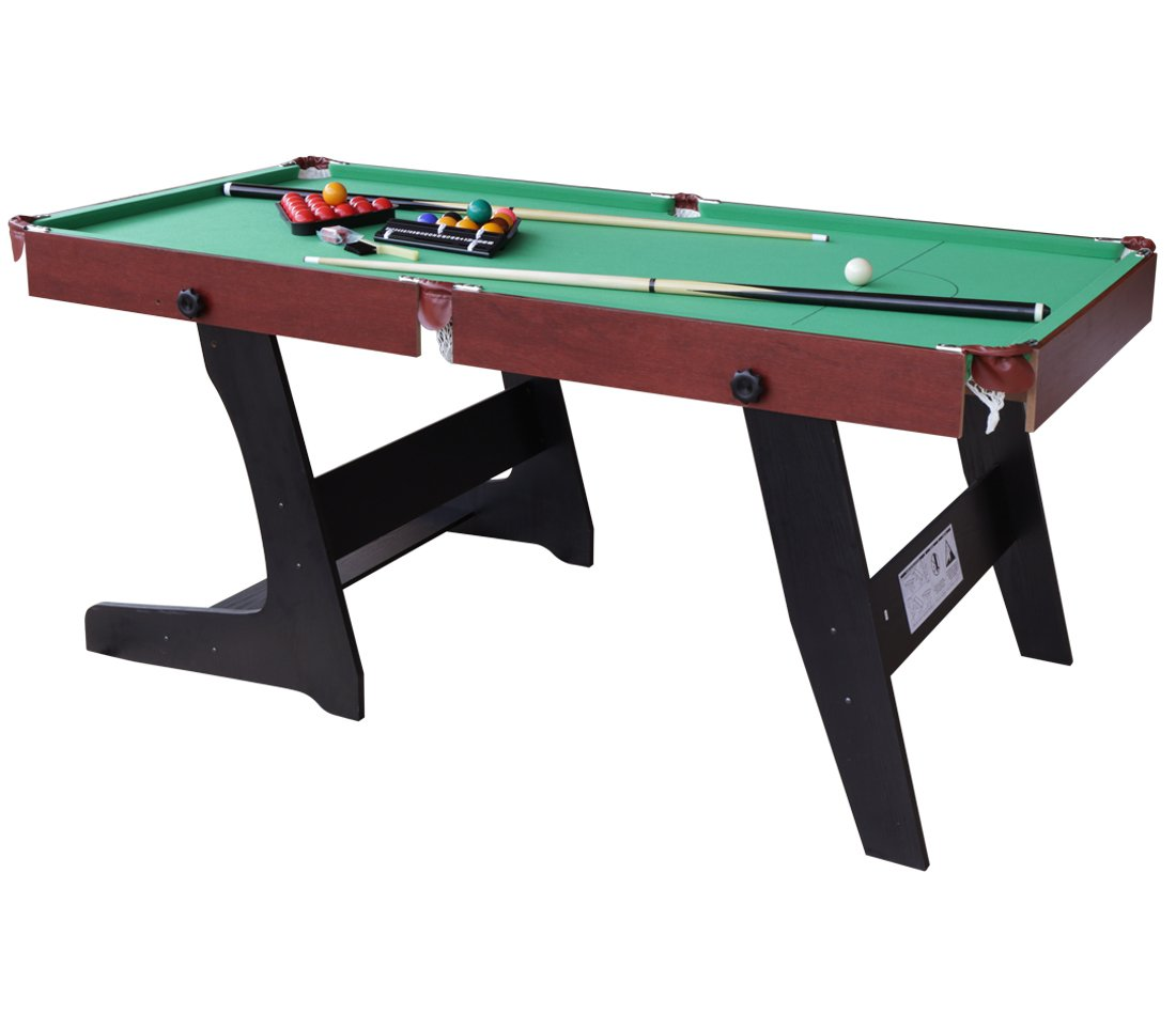 Amazon.com : HLC 6ft Green Foldaway Snooker/Pool Table With Snooker And Pool  Ball Sets : Sports U0026 Outdoors
