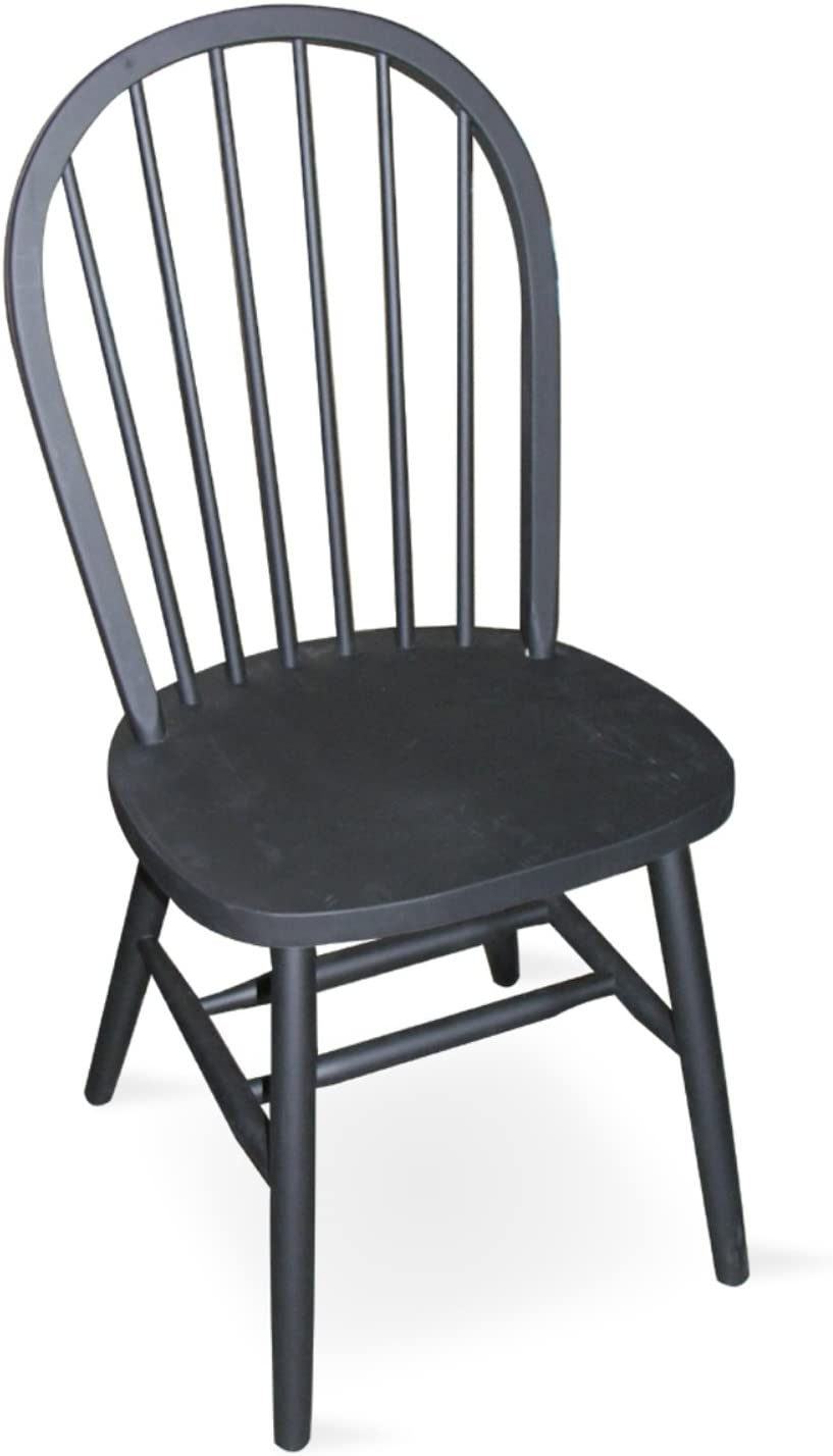 International Concepts 37-Inch High Spindle Back Chair, Black