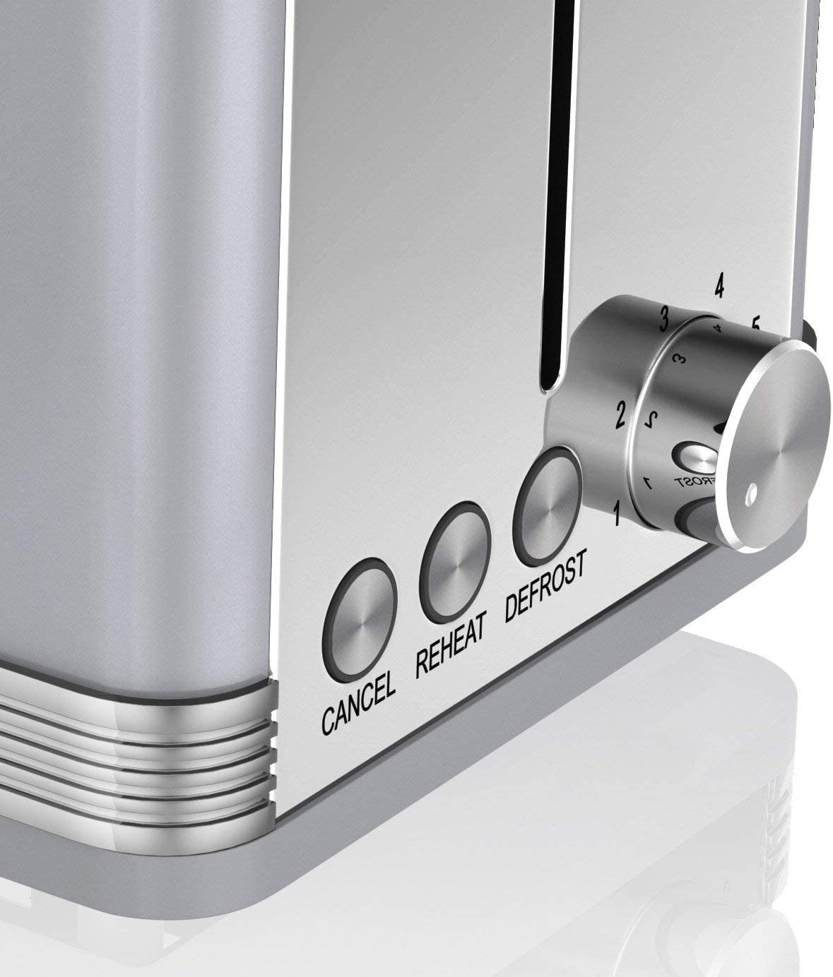 Swan, STP7040BLN, Retro 1.5L Jug Kettle & 2 Slice Toaster, Stainless Steel Body, 3kw, Slide Out Crumb Tray, Auto-Centering, (Blue) Grey