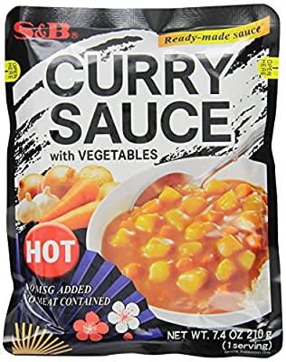 S&B Curry Sauce with Vegetables Hot, 7.4-Ounce (Pack of 10)