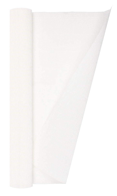 13.3 sqft White Crepe Paper Roll Premium Italian Heavy 140 g