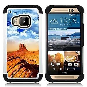 - desert mountain climbing extreme orange/ H??brido 3in1 Deluxe Impreso duro Soft Alto Impacto caja de la armadura Defender - SHIMIN CAO - For HTC ONE M9