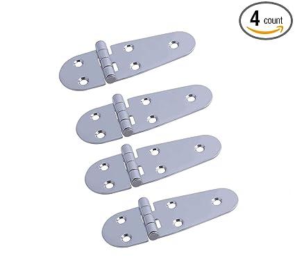 Amazon.com: Hoffen - 4 bisagras de acero inoxidable para ...