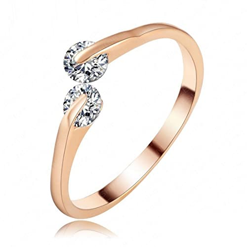 Buy Shimmer Divine Aaa Swiss Ad Magnificent 18k Rose Gold Ring For Women Girls At Amazon In