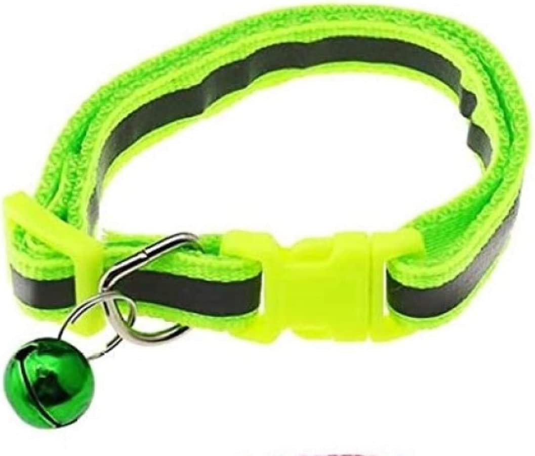 Vita Sharks Reflective Adjustable Cat//Dog or Small animal collar in 11 Colours with Bells Purple