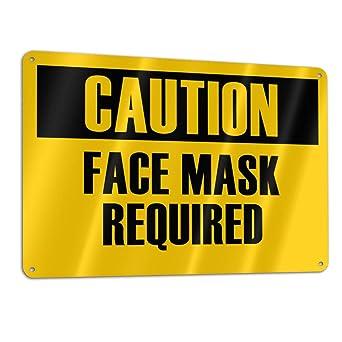 Face Mask No Mask No Entry Warning Caution Danger Sign Self Adhesive Sticker