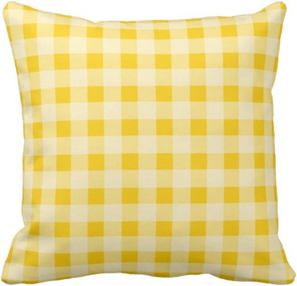 Emvency Throw Pillow Cover Yellow