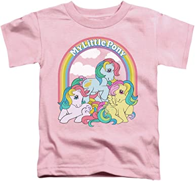 My Little Pony Retro Under The Rainbow Unisex Toddler T Shirt for Boys and Girls