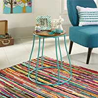 Sauder Eden Rue End Table in Aqua