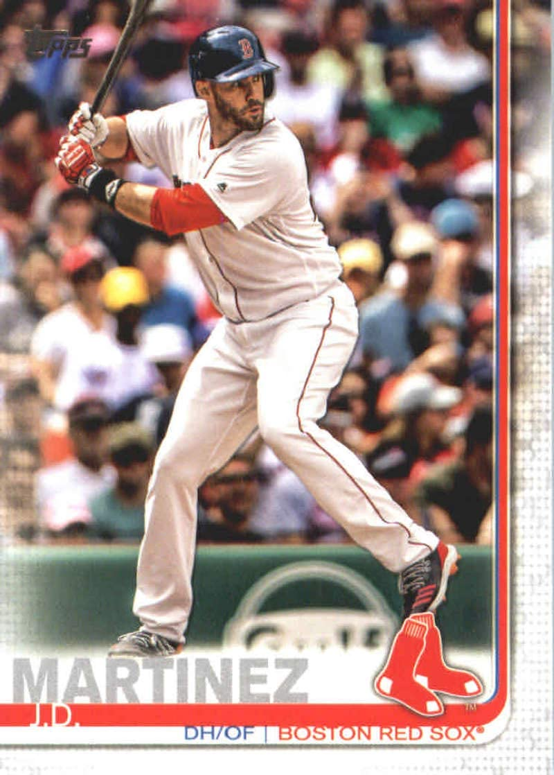 2019 Topps #77 J.D. Martinez Boston Red Sox Series 1 MLB Baseball Trading Card