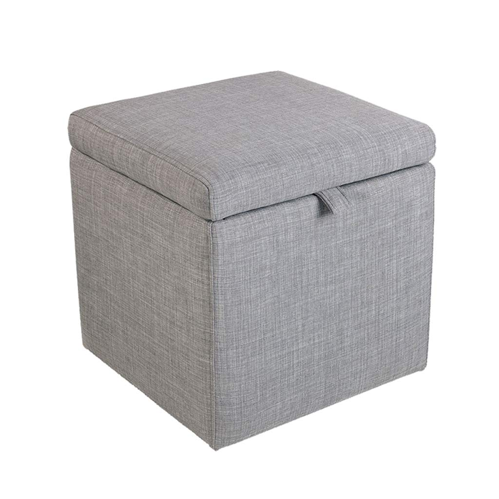002 16.92×16.92×17.71\ TYJY Fabric Storage Stool, Small Sofa Bench, Bedside Stool, shoes Bench (color    002, Size   16.92×16.92×17.71 )