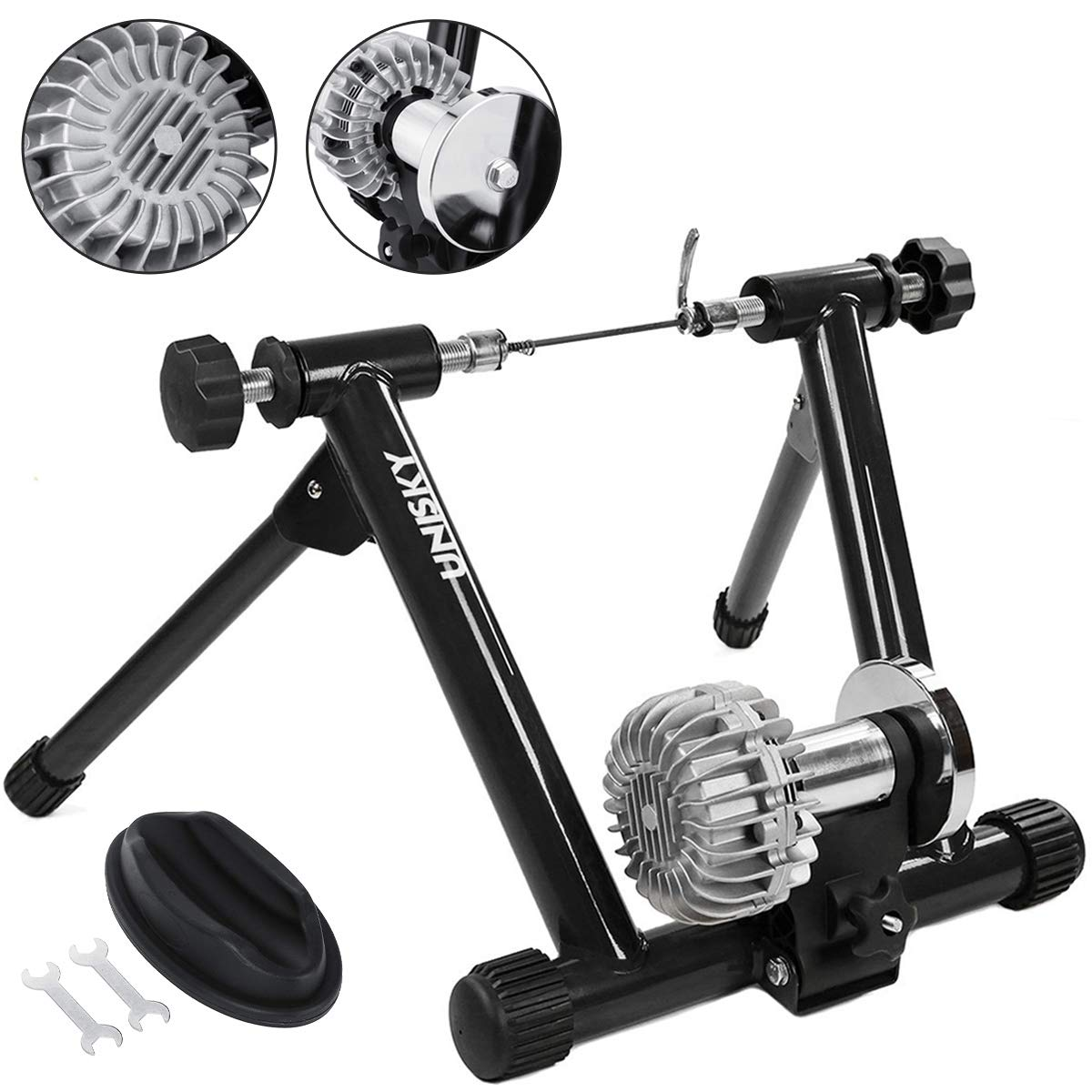 Fluid Bike Trainer >> Popsport Fluid Bike Trainer Stand 330lbs Indoor Bicycle Trainer 750w Flowing Resistance Indoor Bike Trainer Exercise Stand For Indoor Riding Training