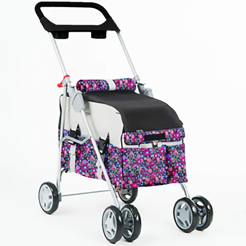 Fashion Flower Pet Stroller/Carrier/Car Seat Travel Folding Carrier by BestPet