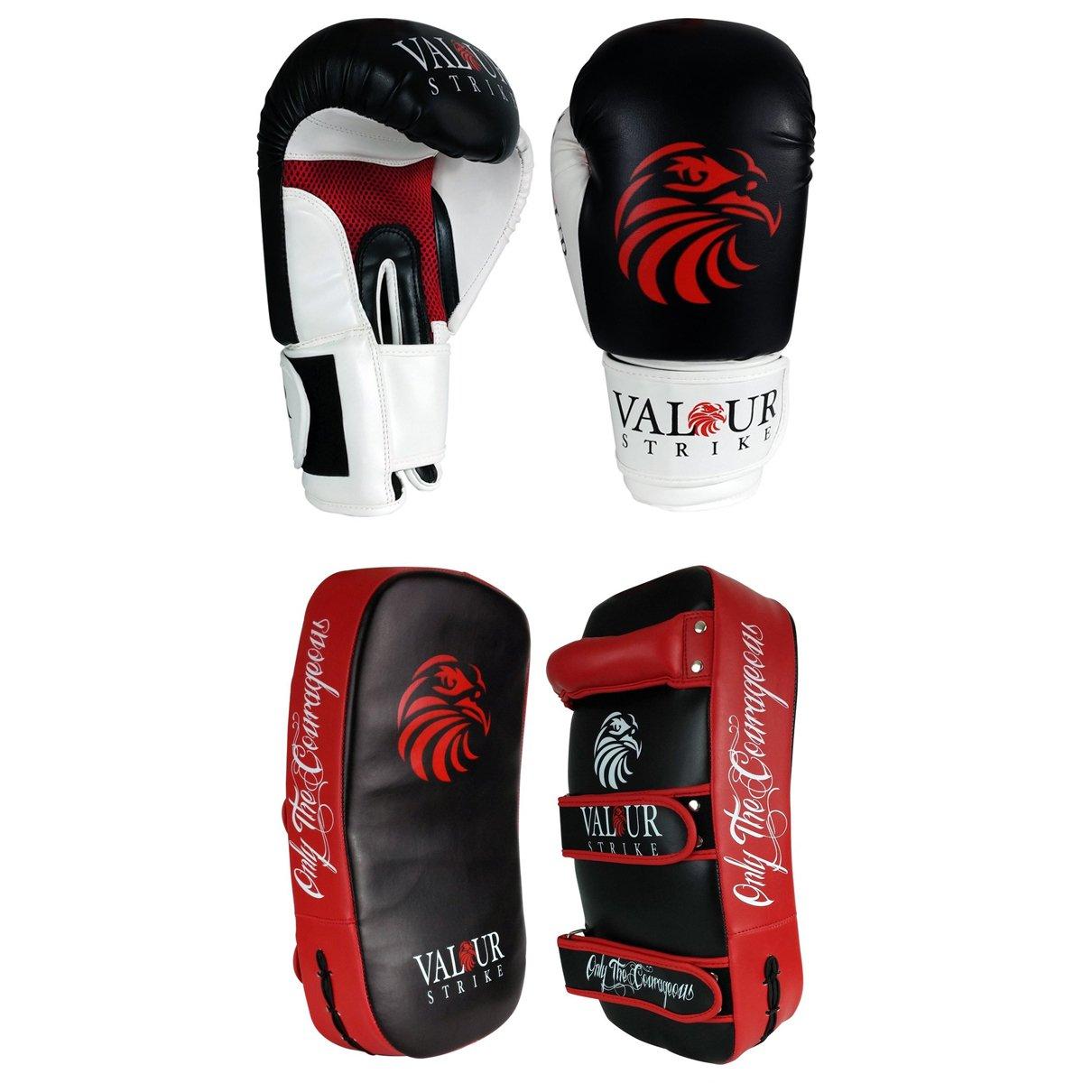 Pro 14 oz guantes de boxeo y Kickboxing pao para cama individual y#x2605; Shield PRO escudos curvados de entrenamiento de artes marciales de boxeo almohadillas protectoras para saco de boxeo de lucha con texto en inglés de guante y#x2605; Deportes de Focus