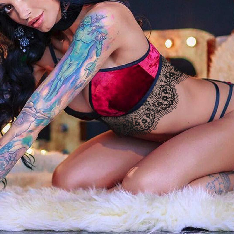 Conjuntos de Lencería Erotica Mujer Ropa Interior de Encaje Sexy Vestidos Picardias Vendaje Conjunto de lencería de Terciopelo Sujetadores y Tangas Camisón ...