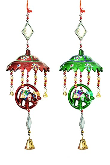 Amazon Com Indiprime Tradtional Indian Handmade Elephant Hanging