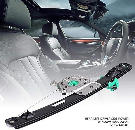 Aramox Window Regulator,Rear Right Power Window Regulator Passenger Side for BMW E90 3 Series 4 Door 51357140590