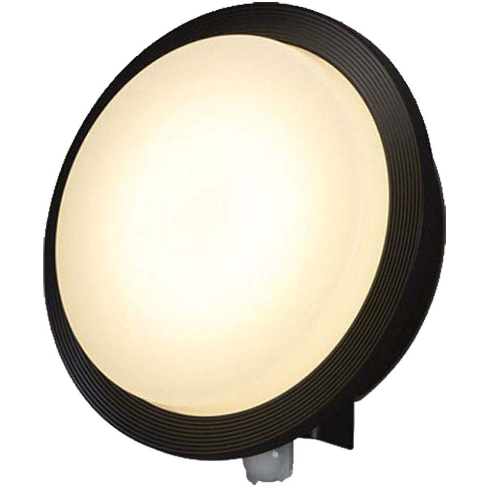 アイリスオーヤマ LEDポーチ灯 人感センサー付き ブラック 電気工事必要 IRBR5L-CIFRB-MSBS-P B071CNNVC3