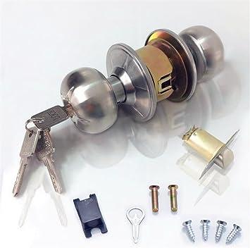 WLQX Cerraduras esféricas Cerraduras de las puertas interiores Cerraduras esféricas de acero inoxidable Cerraduras redondas Cerraduras ...