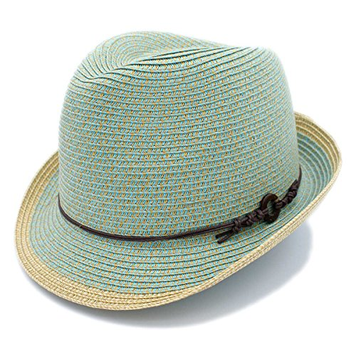 1 3/4' Wide Brim Panama Roll Up Fedora Sun Hat Beach Cap