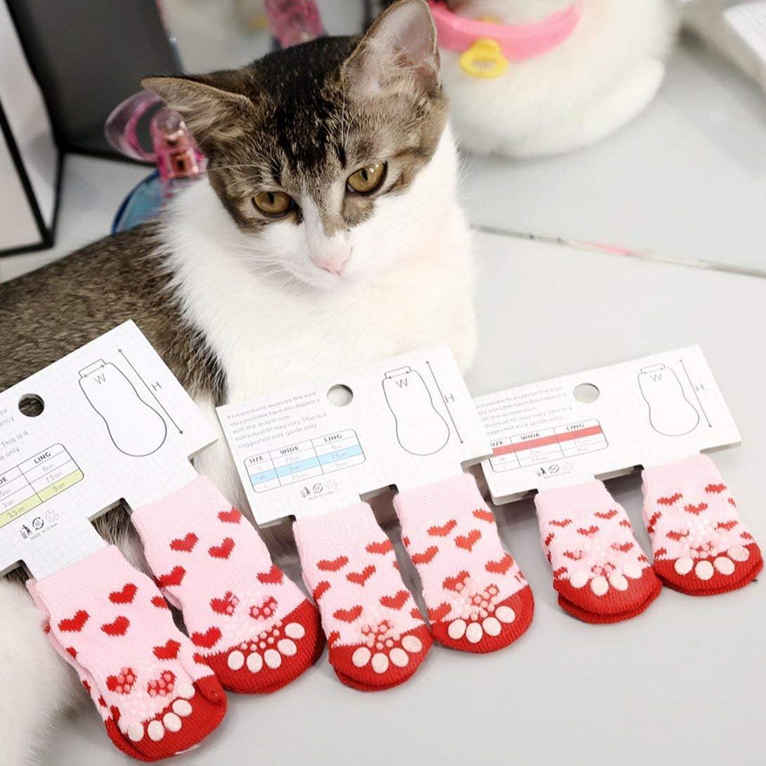 Swiftswan Cute Pattern Pet Socks Soft Cotton Dog Cat Socks Sweet Interior Floor Socks Pet Supplies Spring Autumn Winter