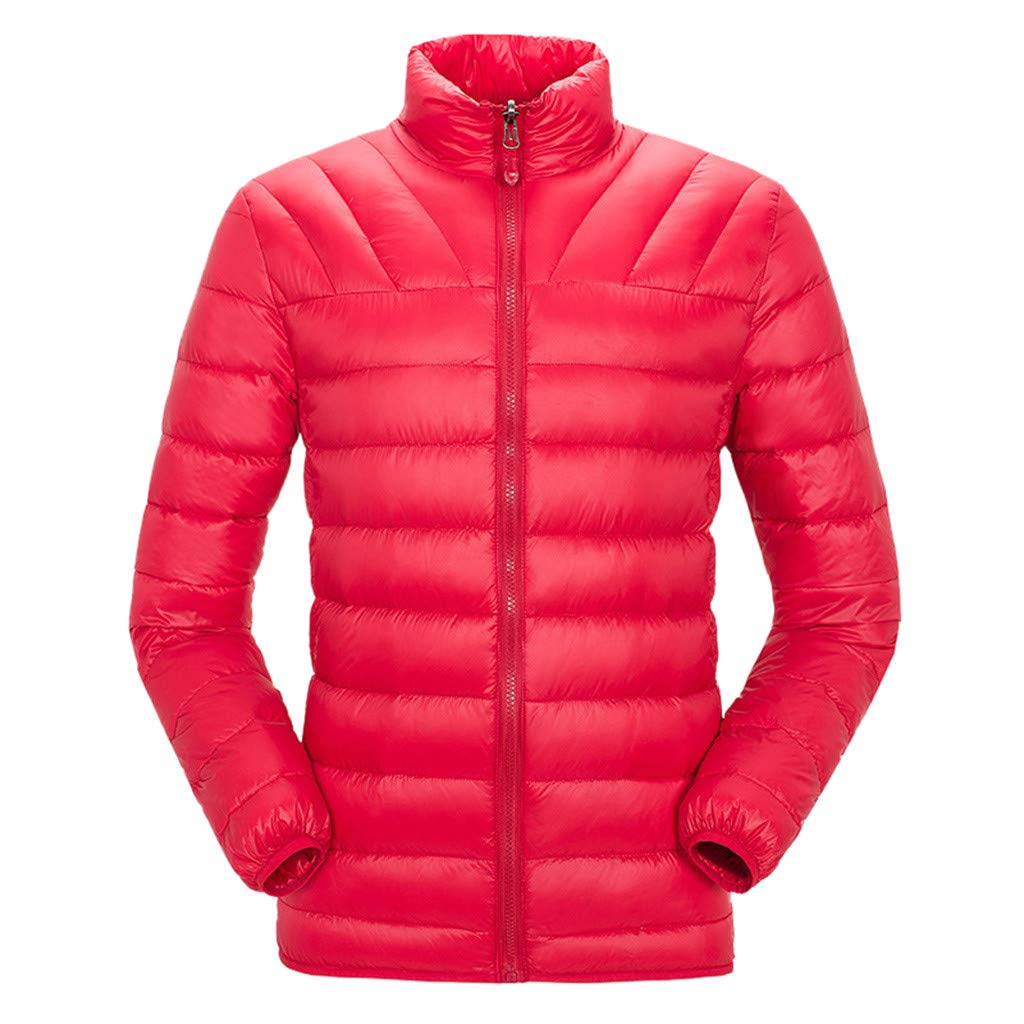 HebeTop  Men's Thermal Jacket Top Coat Falls 590 TurboDown Jacket, Thermal Reflective Warmth Red by HebeTop➟Men's Clothing