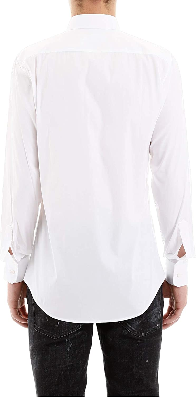 DSQUARED2 Camisa Básica Lisa Blanca (50): Amazon.es: Ropa y accesorios