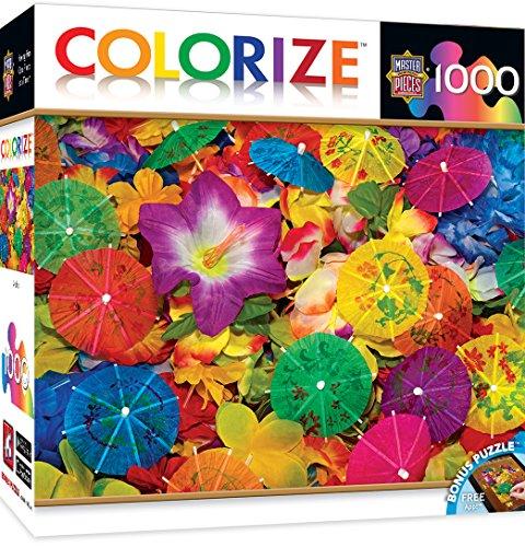 MasterPieces Colorize Aloha! - Drink Umbrellas 1000 Piece Jigsaw Puzzle (Quality Wheelhouse)