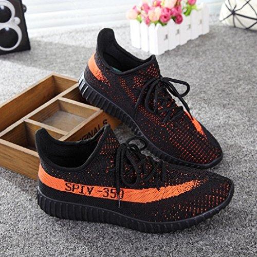 Casual Unisex Athletic Orange Sneakers Walking Zhou Women Cool Men Comfortable For Couple Fashion Shoes Lightweight Black w5Zqq4npHC
