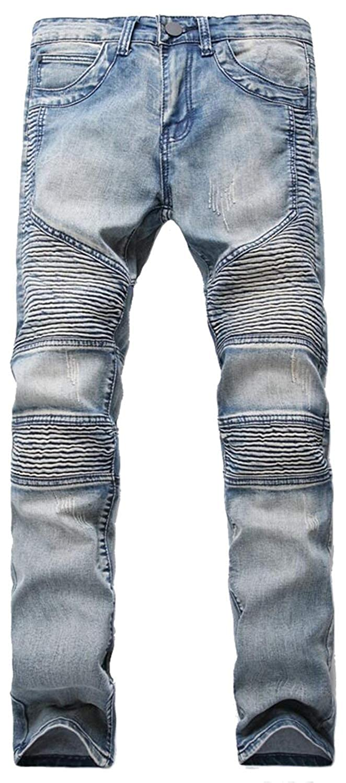 Pantalones para Hombres Pantalones Esencial Mezclilla De ...