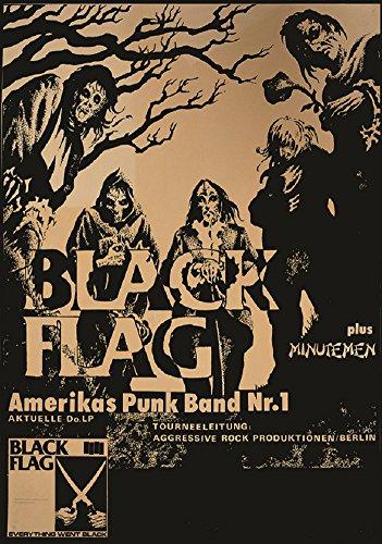 Rock Concert Poster (FLAG by Annex Black Flag Punk Rock Vintage Concert Band Poster Fine Art Print)