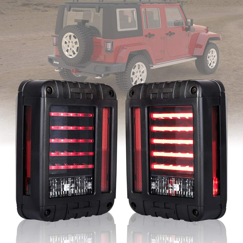 Amazon.com: Liteway LED Tail Lights for 07-17 Jeep Wrangler Reverse Light  Turn Signal Lamp Running Lights for Jeep Wrangler JK, 2 Years Warranty:  Automotive