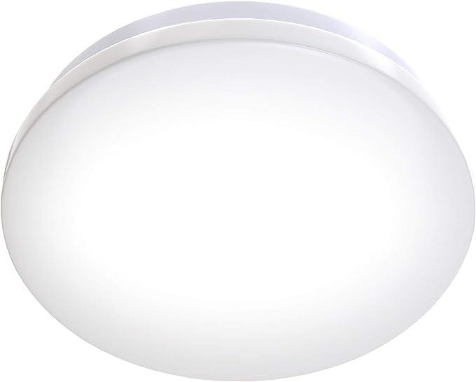 1200LM I Luz para ba/ño B.K.Licht L/ámpara de techo moderna I Ecol/ógico I F/ácil montaje I LED Plaf/ón /Φ30 cm IP44 Impermeable I Blanco Natural 4000K