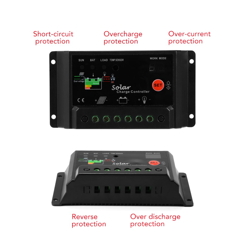 Xcsource 30a 12v 24v Solar Charge Controller Panel Battery Details About Regulator Pwm 30amp Intelligent Without Lcd Display Ld296 Us1 Energy Controllers Patio